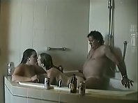 Fat Mature Guy Gets Down And Dirty With Two Horny Girls