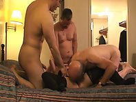 Older husband gets cucked by two other guys